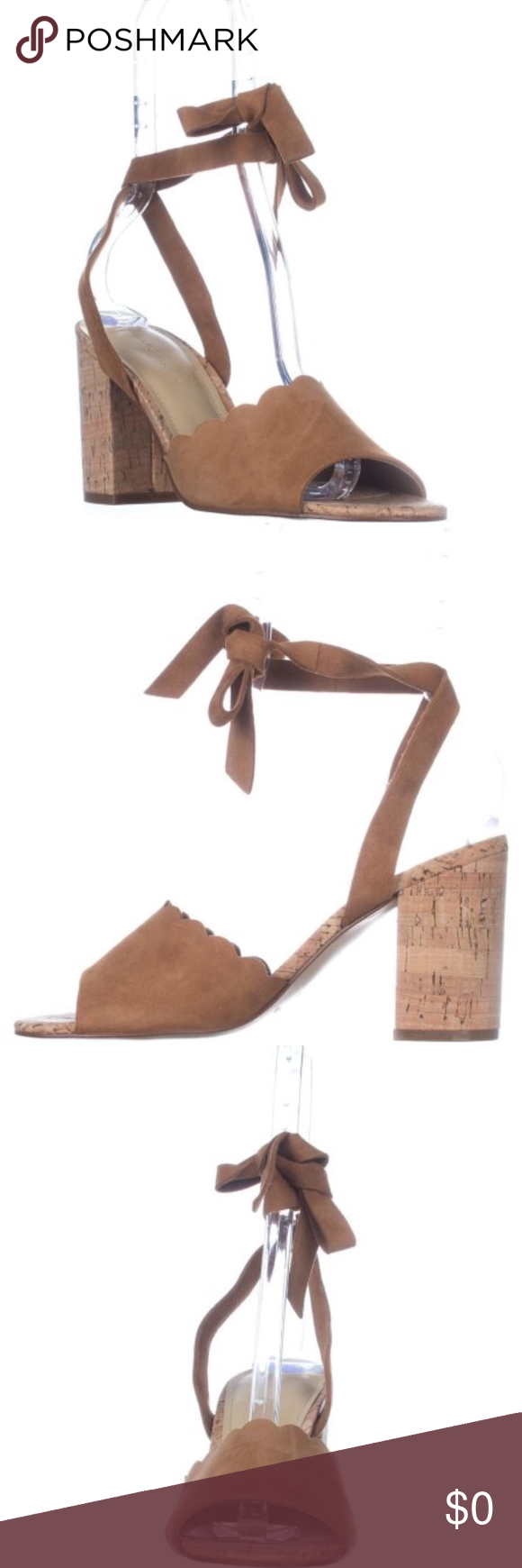 7af6ac6cd56 Marc Fisher Piya Lace-Up Cork Heel Authentic brand new