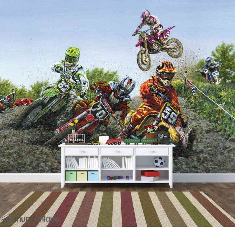 Motocross Extreme Sport 10.5' x 8' (3,20m x 2,44m) Kids