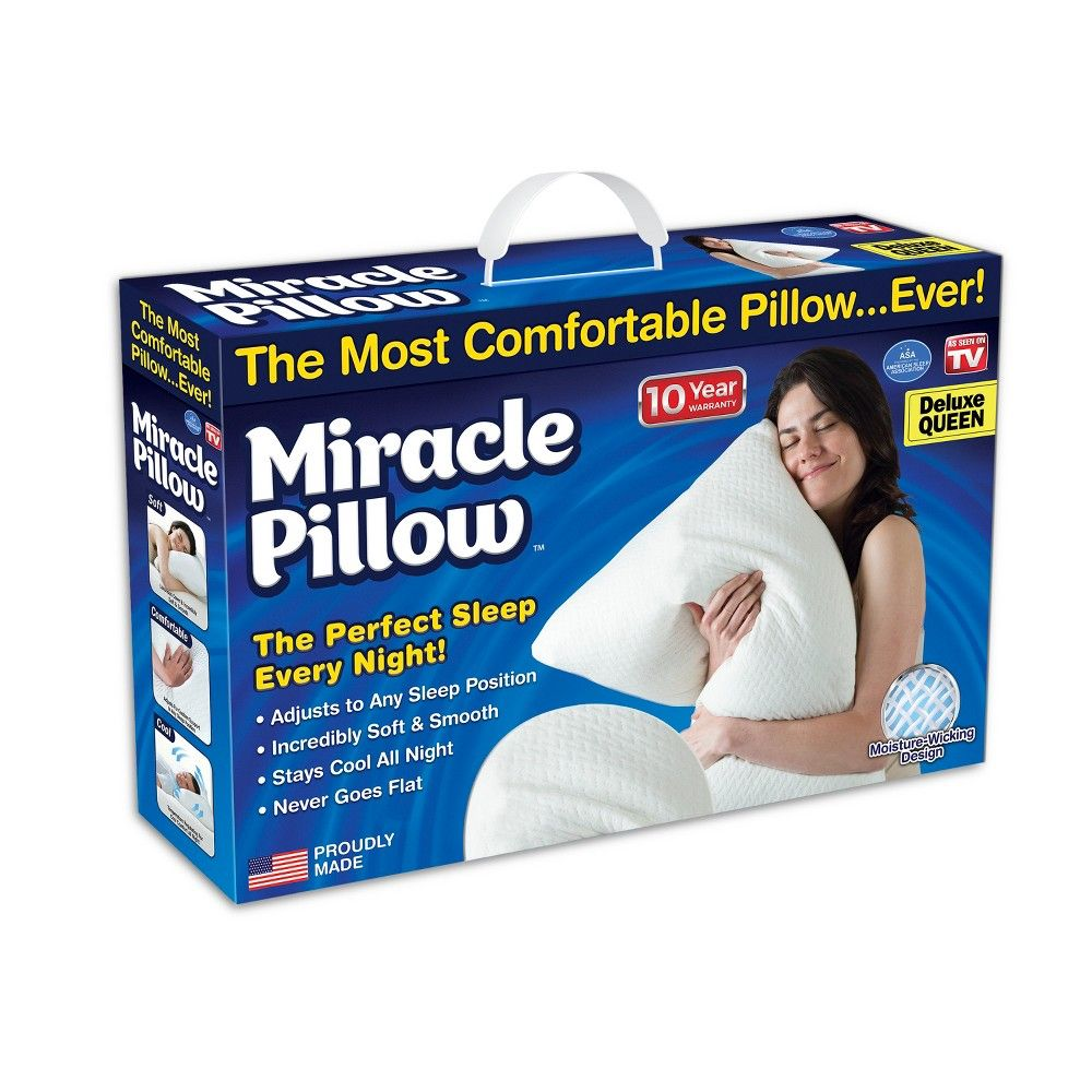 As Seen On Tv Miracle Pillow Off White See On Tv Pillows Most Comfortable Pillow