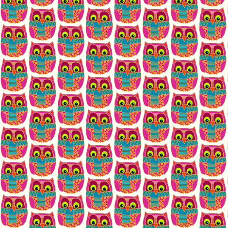 small kookie owl fabric by scrummy on Spoonflower - custom fabric
