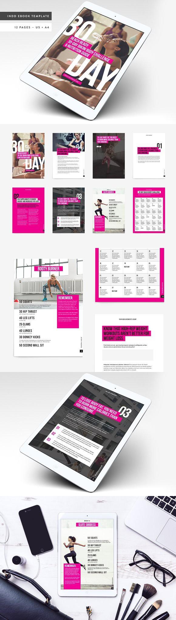 Fitness Bold Ebook Template. Magazine Templates   Magazine Templates ...