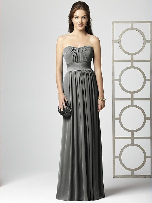 Dark Grey Chiffon Bridesmaid Dresses