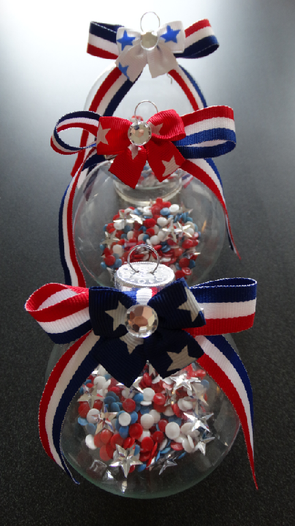 Diy With Deco Dots 50 Stars And Stripes Red White Amp Blue Wish Balls Ornaments God Bless