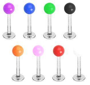 Body Accentz™ 8 Bright Uv ball Labret Monroe lip targus body jewelry piercing bar Ring Rings 16g Body Accentz Labret. $7.99