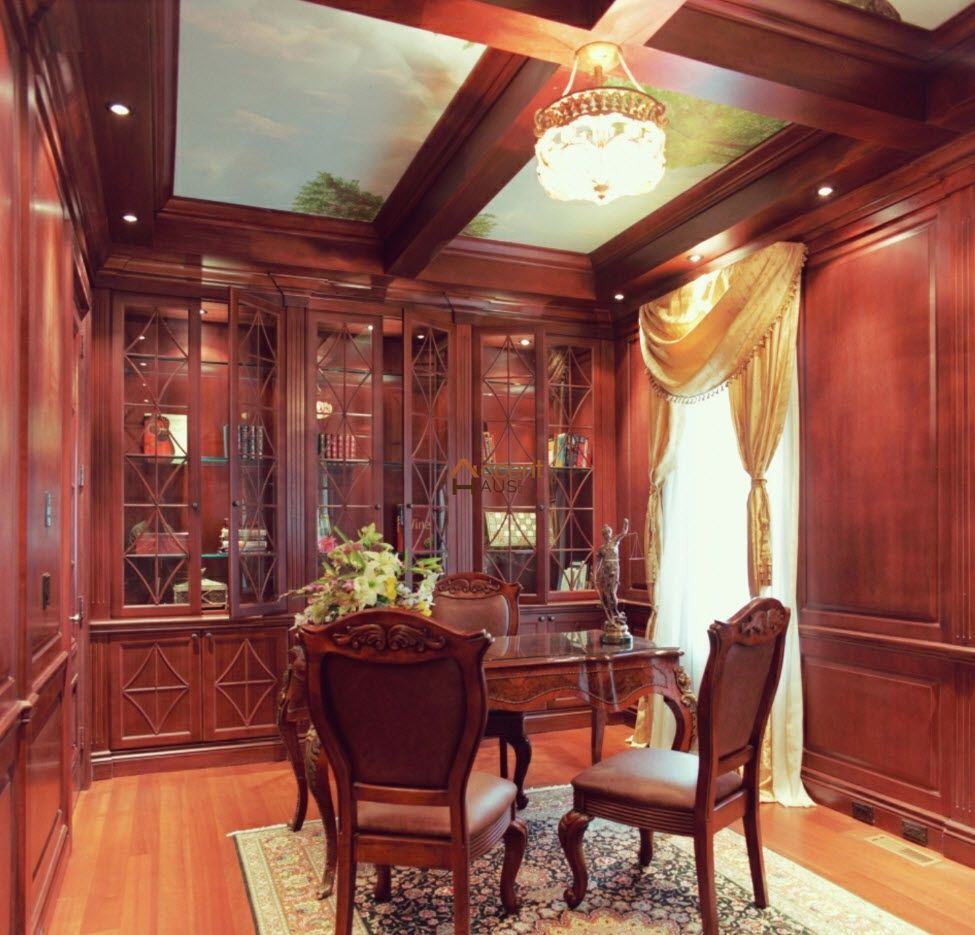 modern waffle ceiling dining room in a house vaughan coffered and