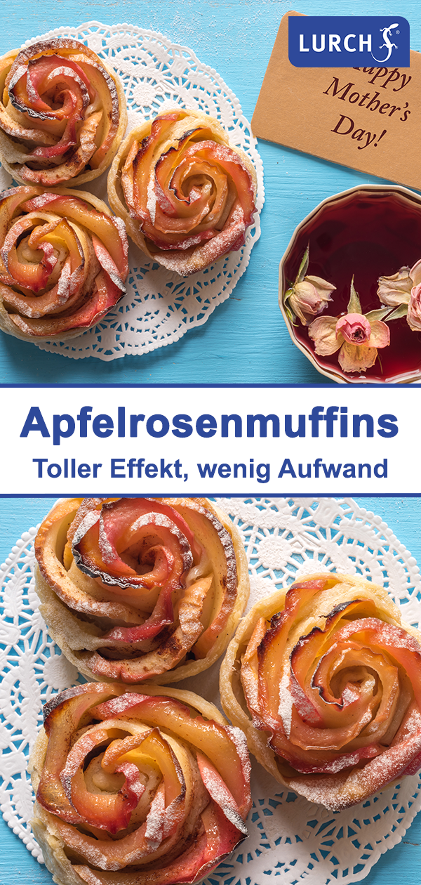 Apfelrosenmuffins