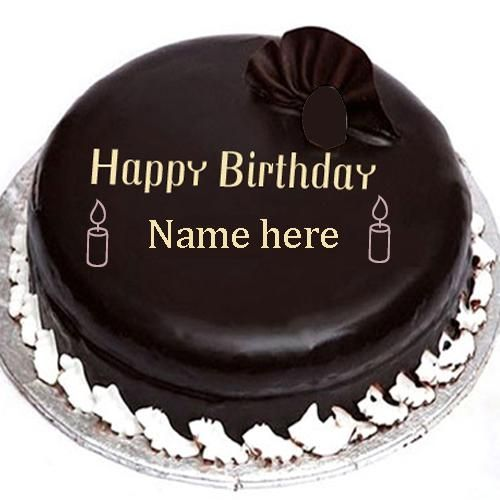 Birthday Cakes Images Editing ~ Write name on chocolate birthday cake images ocolate with edit online