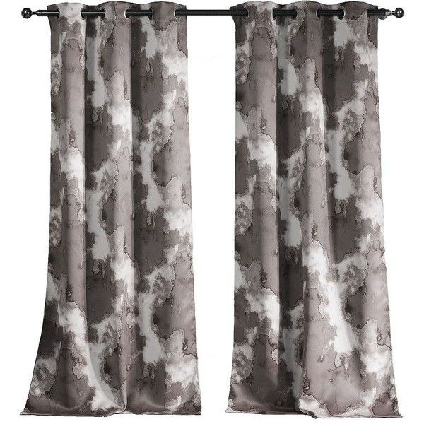 Home Decor Window Treatments Curtains Grey Tie Dye Blackout Panels Black Out Patterned And Gray Curtain