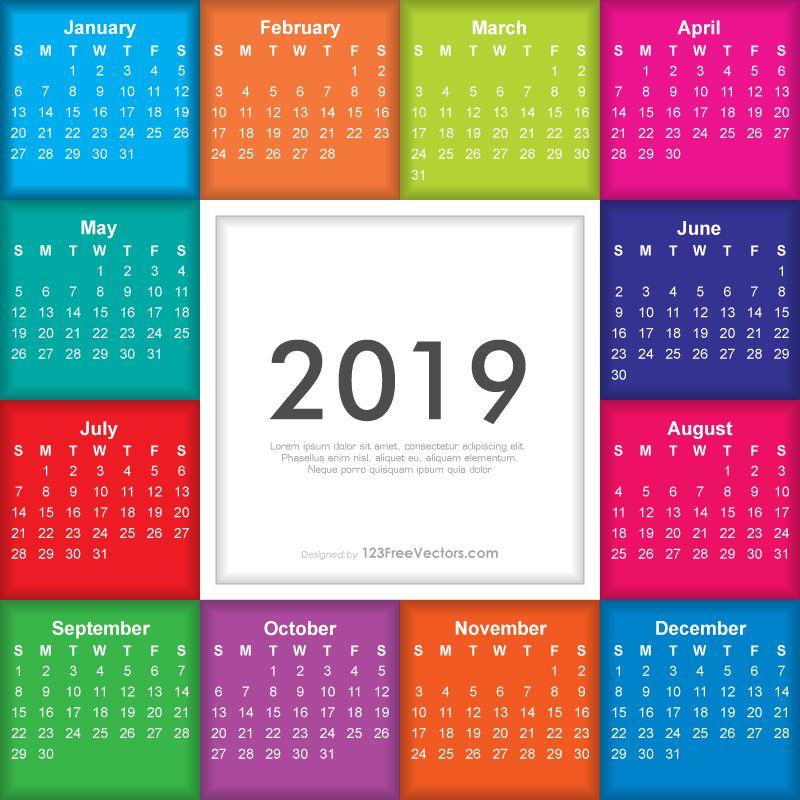 Creative 2013 calendars design elements vector set 09 free download.