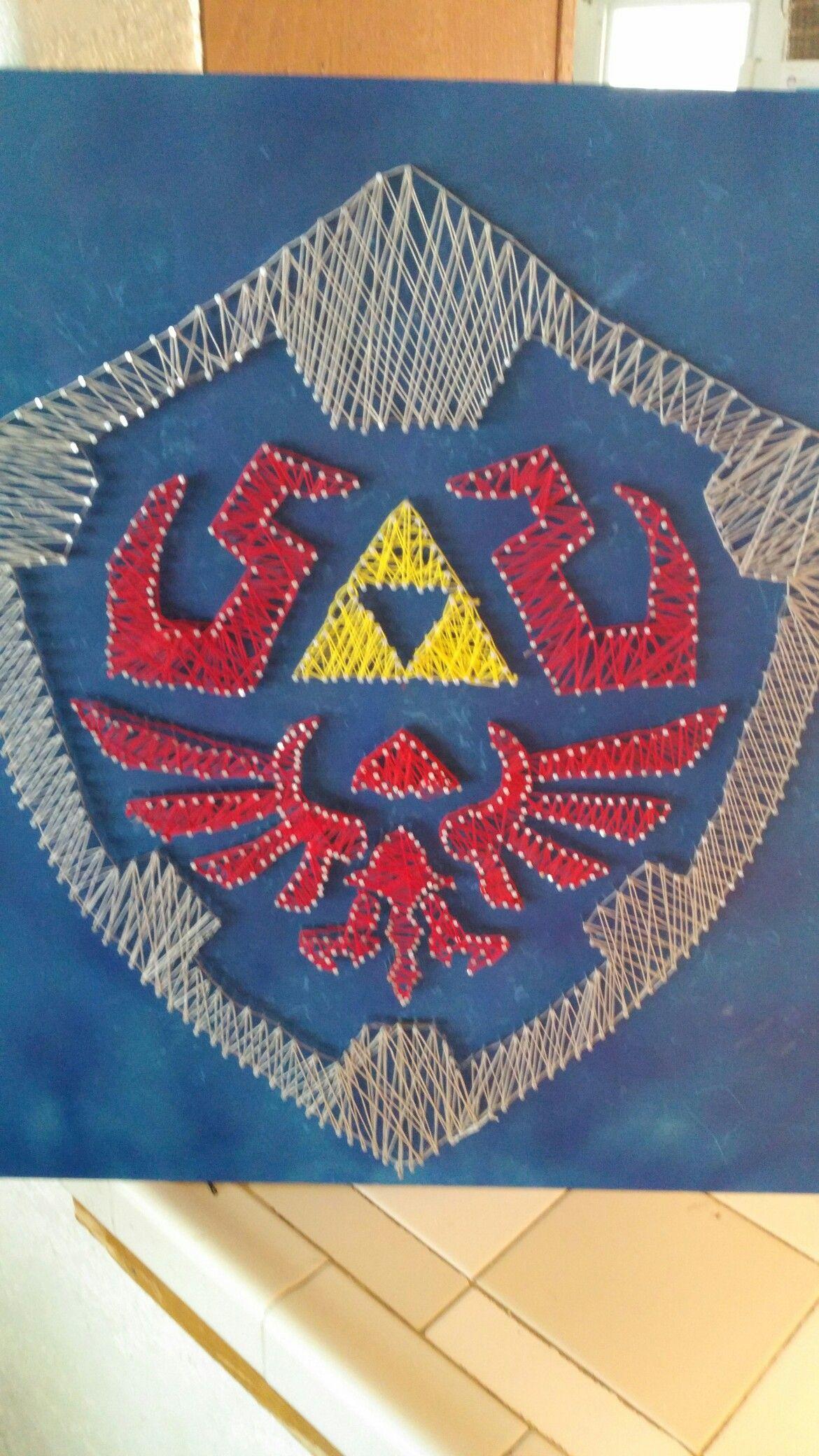 Hylian shield string art