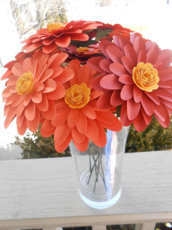 Gerber Daisy Paper Flower Bouquet. CHOOSE YOUR by TreeTownPaper ...