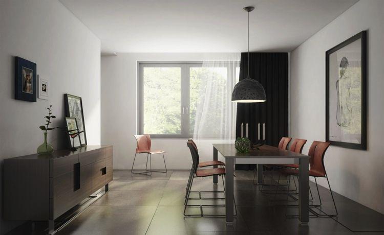 Esszimmer dunkel einrichten \u2013 50 moderne Gestaltungideen