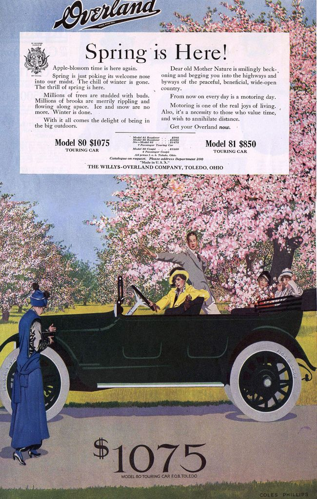 Willys Overland Company Toledo Ohio 1915 Car Antique Car Overlanding Vintage Ads Willys