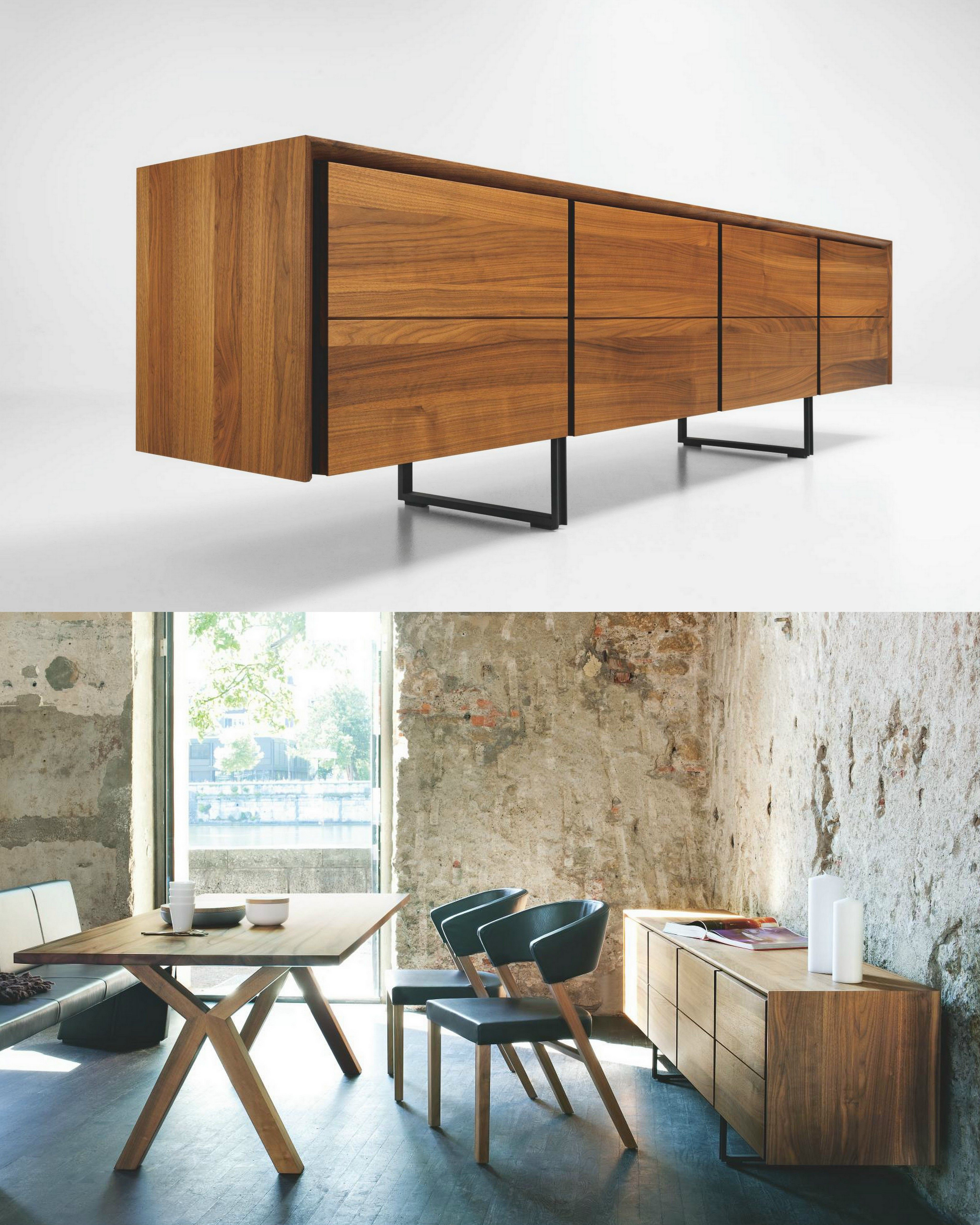 Sideboard with drawers enna by girsberger design for Mobilya design