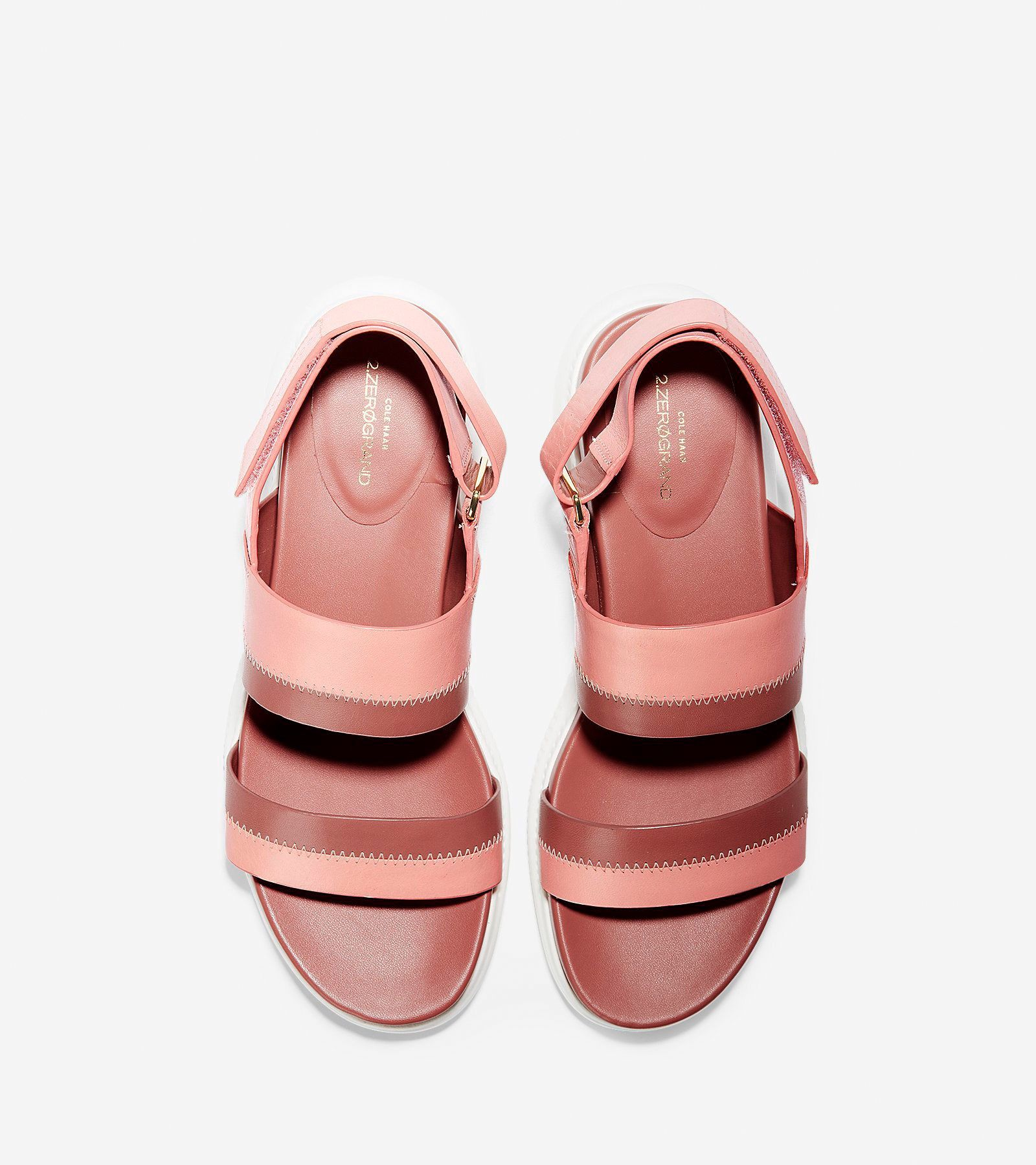 75f5da671322d ZERØGRAND Slide Sandal (30mm) - Coral Almond-cedarwood-optic White by Cole  Haan