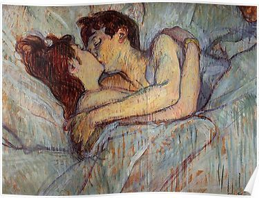 In Bed The Kiss By Henri De Toulouse Lautrec Poster By Catfantastic In 2021 Romantic Paintings Toulouse Lautrec Paintings Henri De Toulouse Lautrec