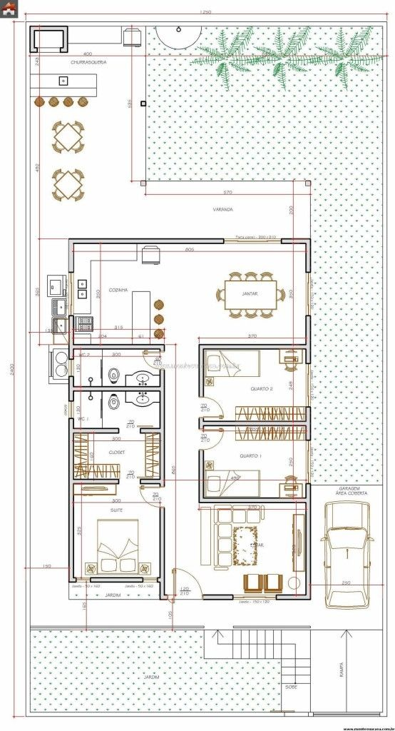 Wonderful 5 Plantas De Casas Até 120m2. Small House PlansHouse ...