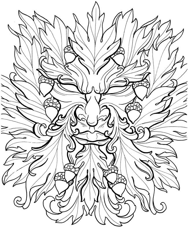 green man coloring pages - photo#5