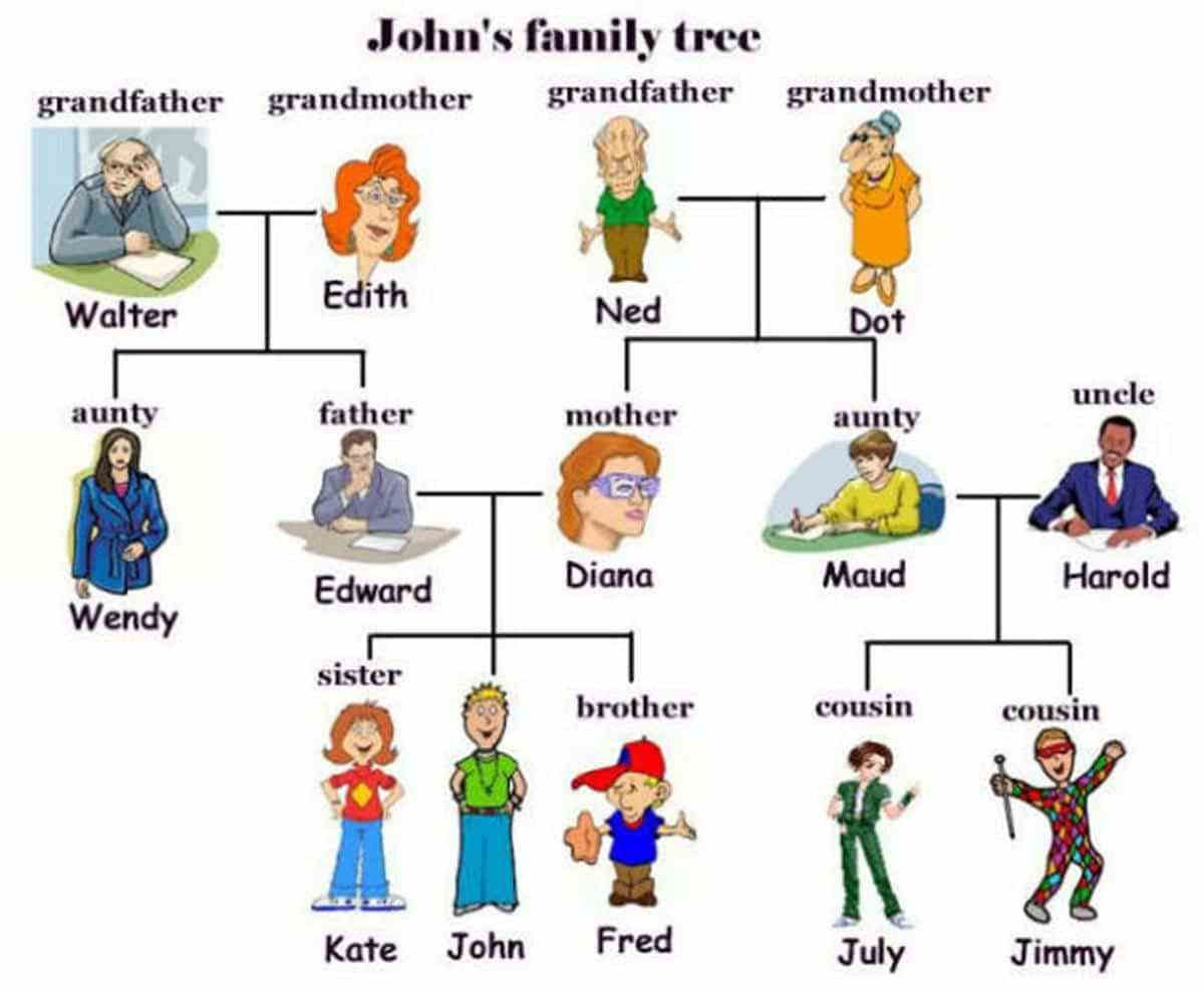 English Vocabulary Members Of The Family