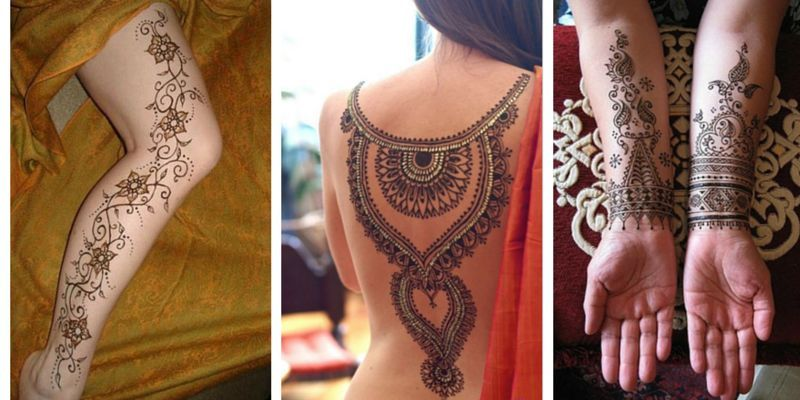 Traditional Henna Tattoo: 150 Most Popular Henna Tattoos Designs [2017 Collection