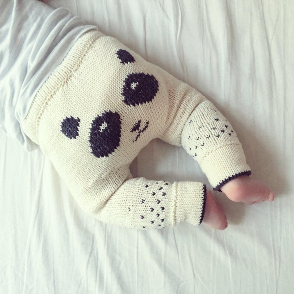 Panda Pants Knitting pattern by Sofie Bovbjerg #babypandas