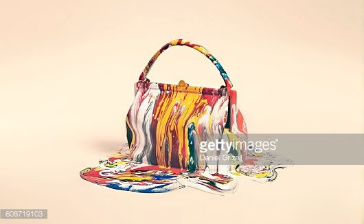 Stock Photo : object covered in paint