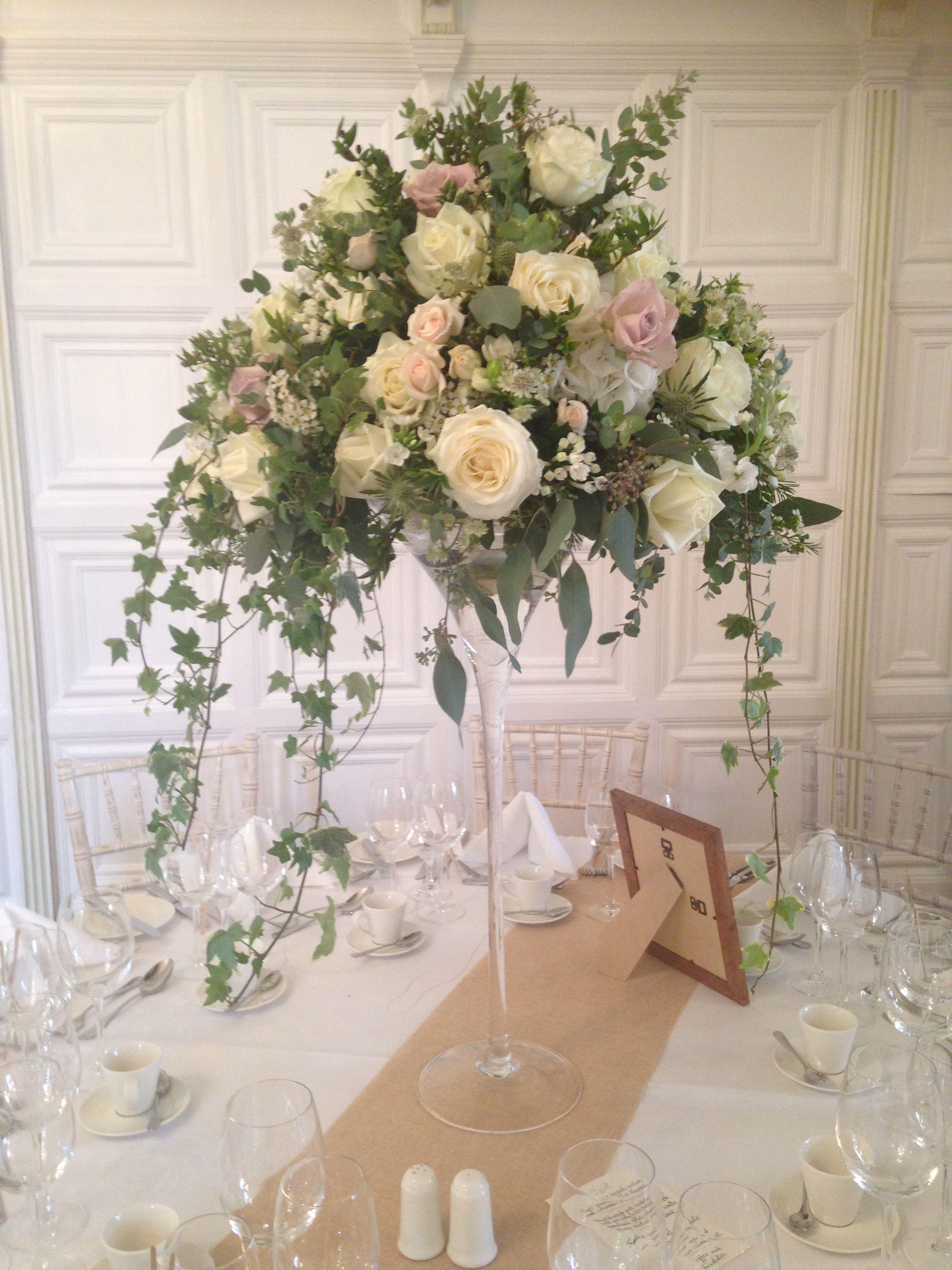 Martini Vase Glamour N Luxury Wedding Centerpieces