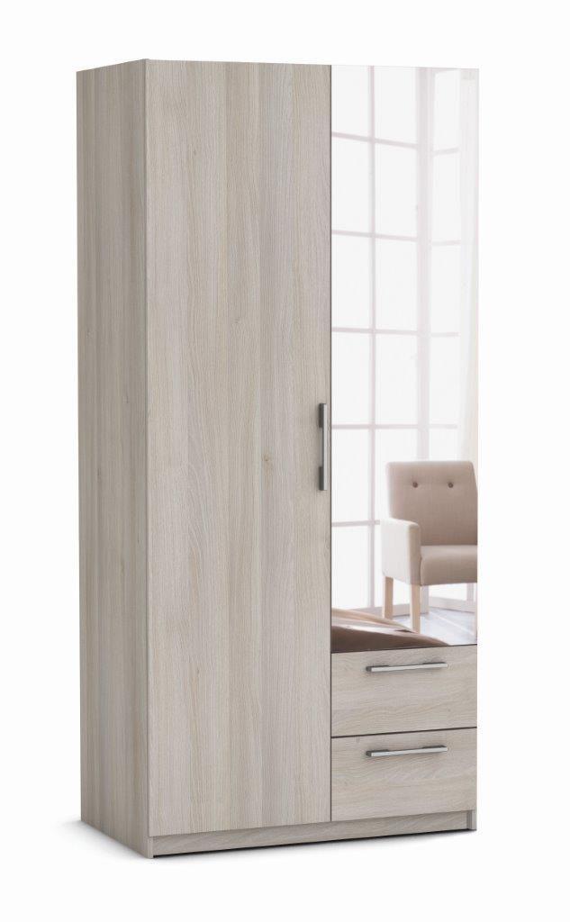 149 armario coser 97cm armario 2 puertas batientes con 1 for Armario conforama dormitorio