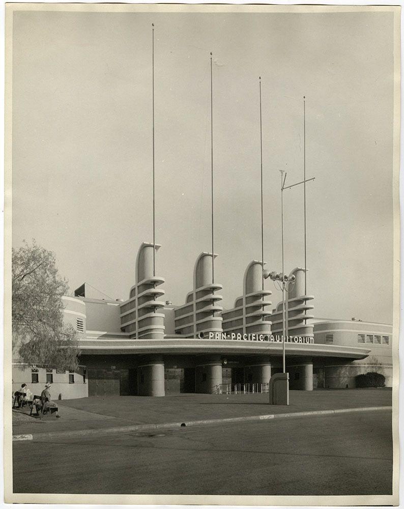 Vintage Pan-Pacific Auditorium Large Photograph Streamline Moderne Landscape 30s