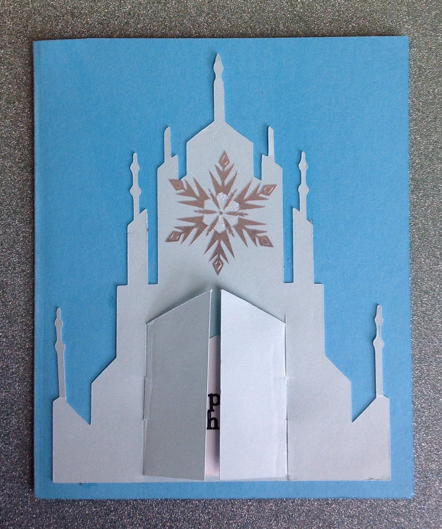 Disney Inspired Ice Palace Birthday Card