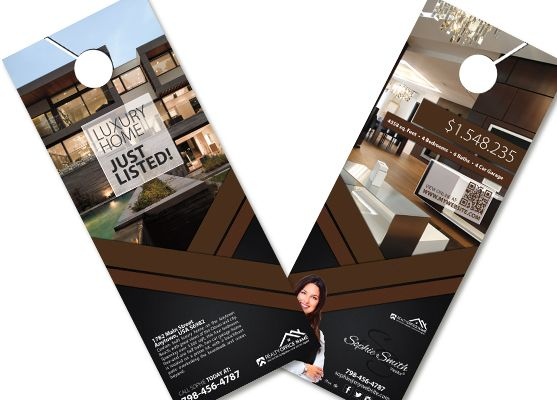 Real Estate Door Hangers  Creative Real Estate Door Hanger