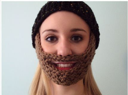 Crochet Beard Hat Pattern note: kid fch 21 st, row 9 - *dc, sc* 3 ...