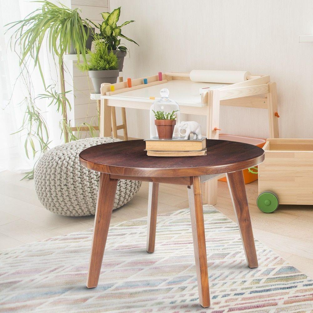 American Trails Genuine Walnut 24 Inch Round Coffee Table With