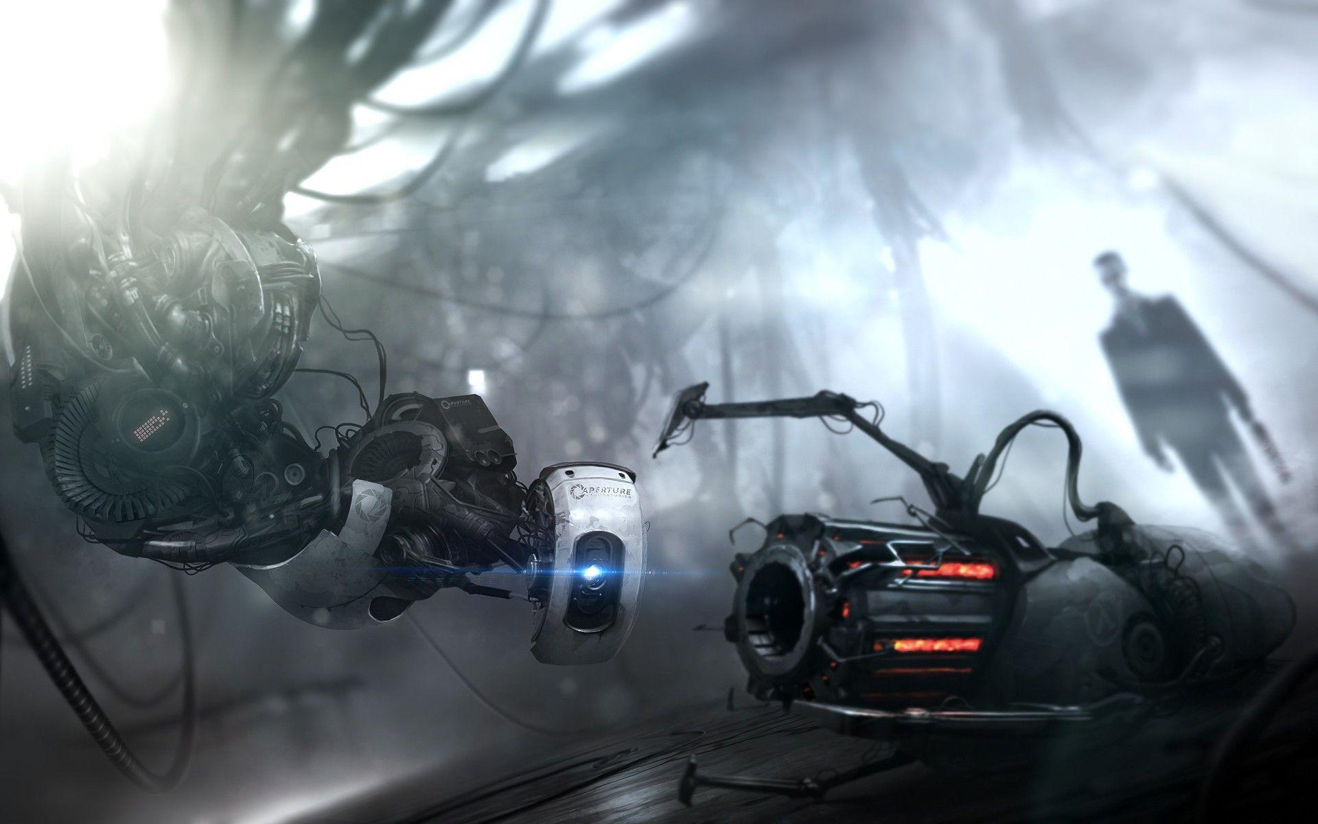 Amazing Half Life 2 Portal 2 Fanart System Wallpaper Full Hd Wallpaper Portal Wallpaper