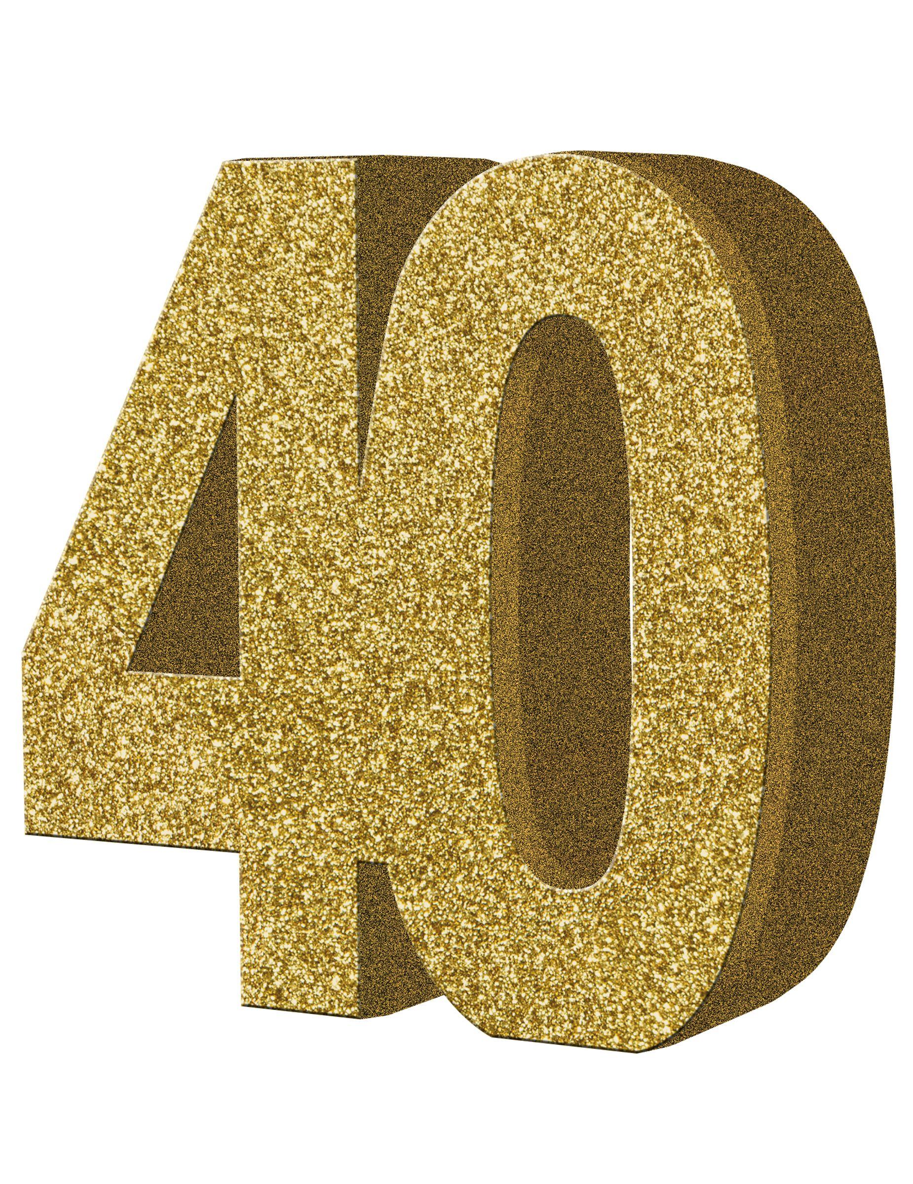 Decoraci n de mesa 40 a os cumplea os 40 decoraciones for Decoracion 40