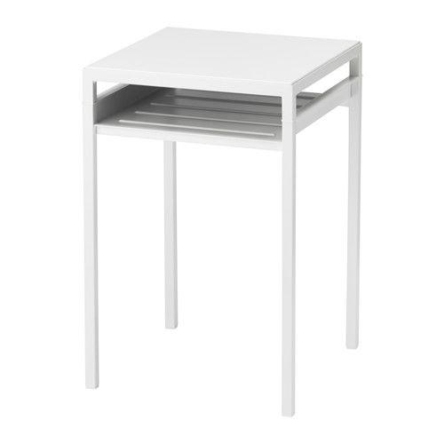 Ikea Nyboda White Gray Side Table W Reversible Table Top