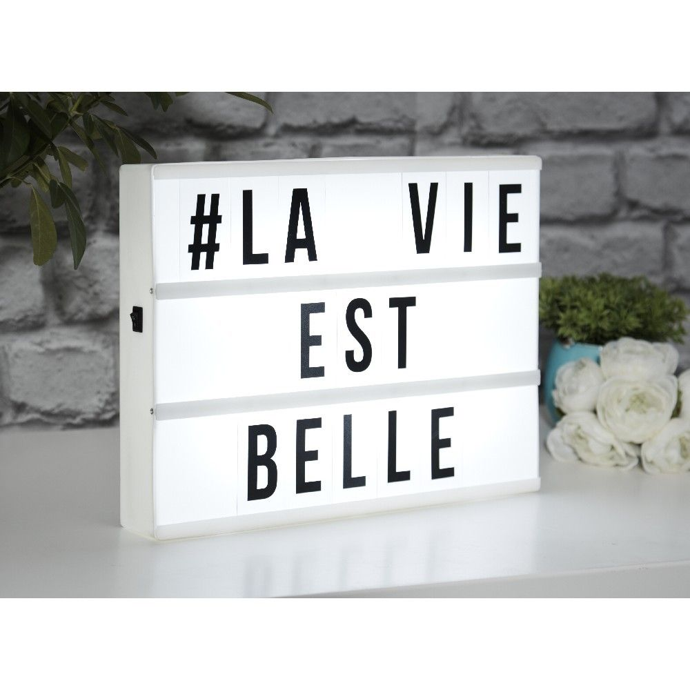 100 Remarquable Concepts Boite Led Lumineuse A Message
