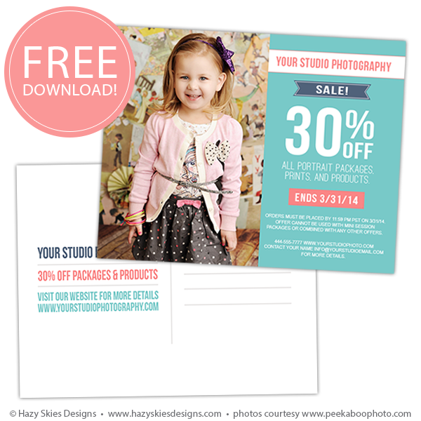 Free Photography Marketing Template Post Card Template Www