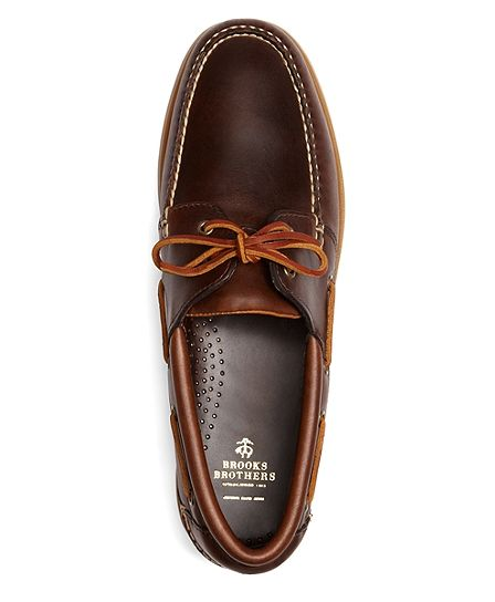 91d226015a Brooks Brothers Leather Boat Shoes - Dark Brown | Tenis in 2019 ...