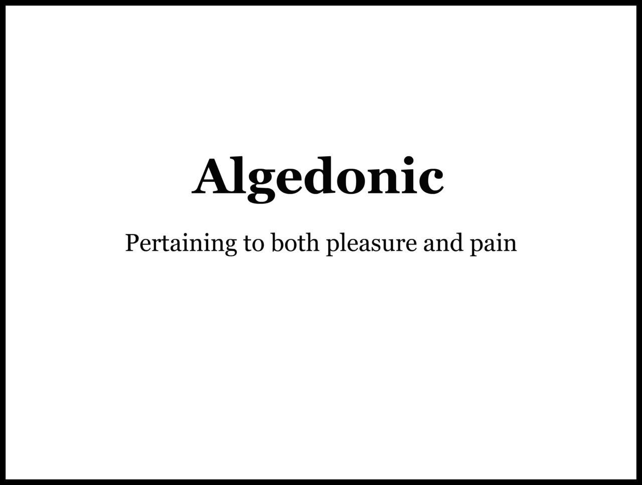 Algedonic