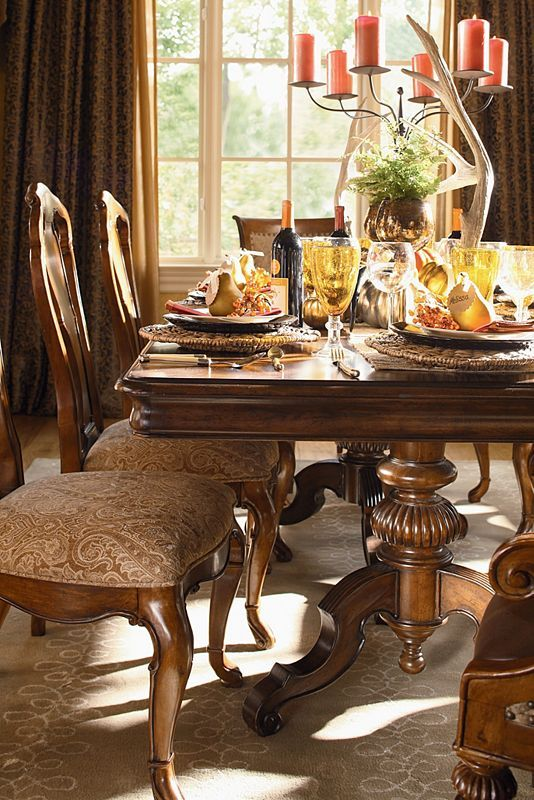 Perfect Castillian Double Pedestal Table   Thomasville Furniture   Ernest Hemingway  Collection