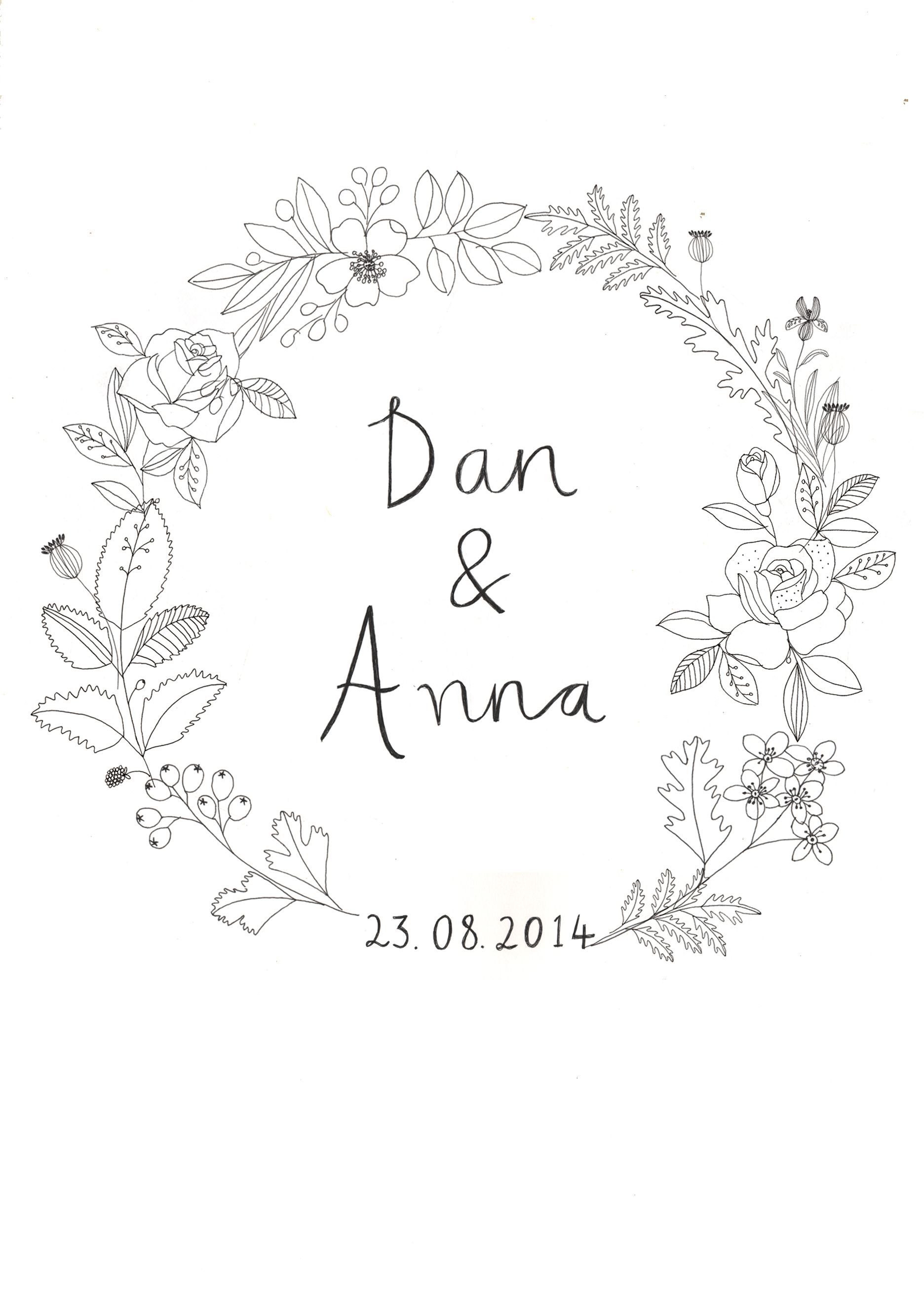 Wedding invite designed by Ryn Frank www.rynfrank.co.uk   Branding ...