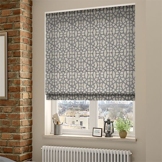 Kitchen Blinds Circle Table Swazi African Grey Roman Blind Window Treatments Pinterest The Is All Sorts Of Trendy With Its Cool Colourway Combination Textures And Contemporary Lattice Design
