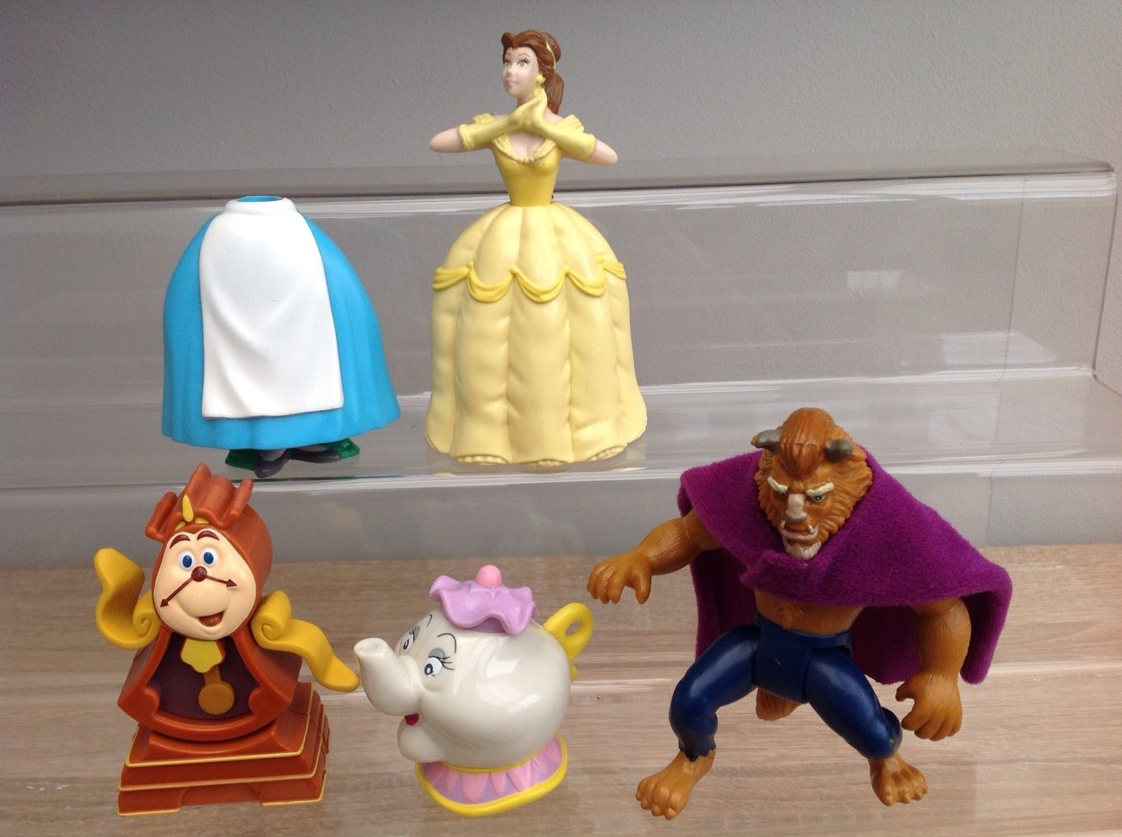Mcdonalds Disney Beauty And The Beast Complete Full Set Figures Toys