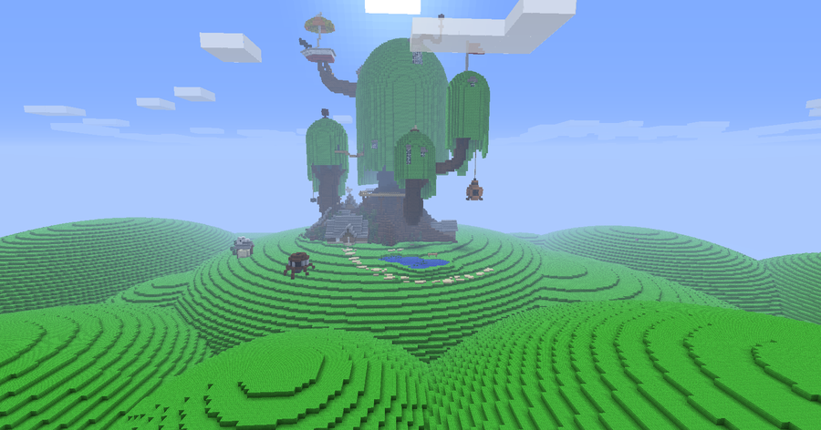 Biggest House In The World 2014 Minecraft awesome # adventuretime tree fort created in # minecraft