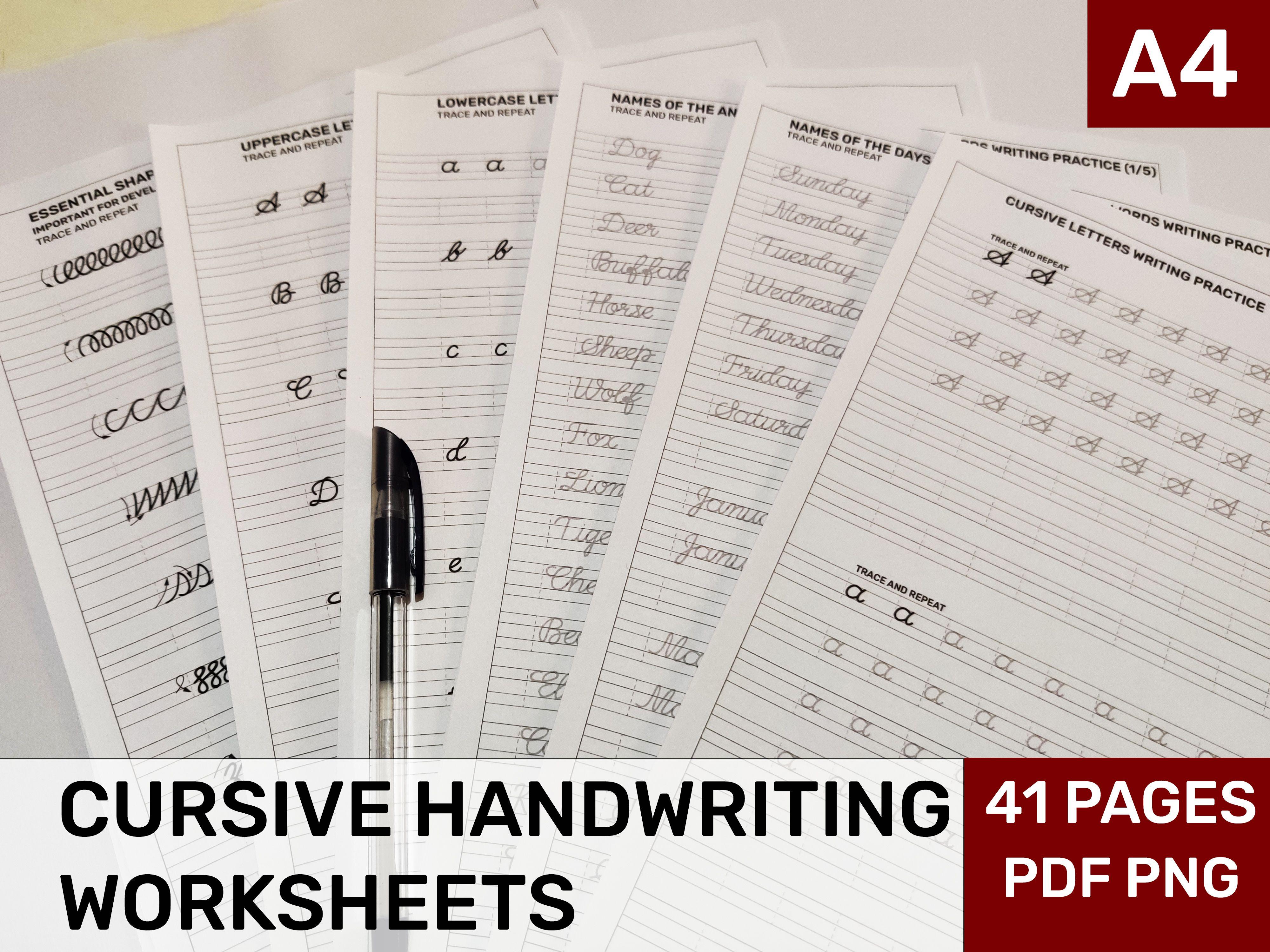 Printable Cursive Handwriting Worksheets Printable
