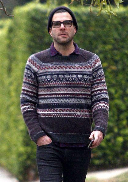 male celebrities in fair isle sweaters. Or rather, fair isle ...