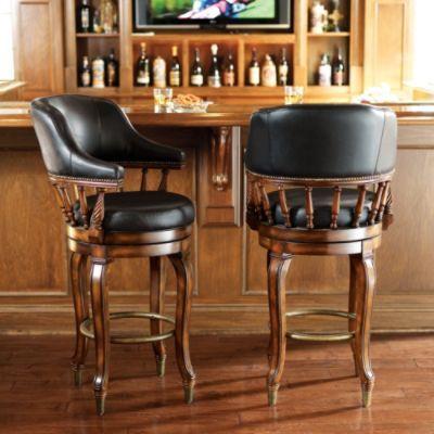 Burbank Swivel Bar Stool Bar Stools Stool Brown Leather Furniture