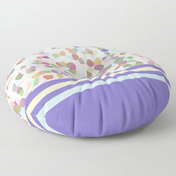 Floor Pillow Lots of Dots Blue Round or by BacktoBasicsPillows