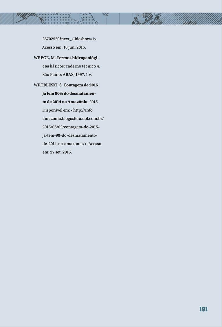 Página 191  Pressione a tecla A para ler o texto da página